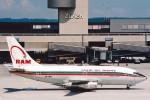 菊池 正人さんが、チューリッヒ空港で撮影したロイヤル・エア・モロッコ 737-2B6/Advの航空フォト(写真)