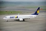 yabyanさんが、新千歳空港で撮影したスカイマーク 737-82Yの航空フォト(飛行機 写真・画像)