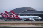 LAX Spotterさんが、ロサンゼルス国際空港で撮影したカンタス航空 A380-842の航空フォト(写真)