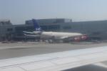 uhfxさんが、サンフランシスコ国際空港で撮影したスカンジナビア航空 A340-313Xの航空フォト(飛行機 写真・画像)