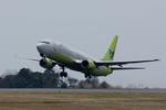 xxxxxzさんが、静岡空港で撮影したジンエアー 737-86Nの航空フォト(飛行機 写真・画像)