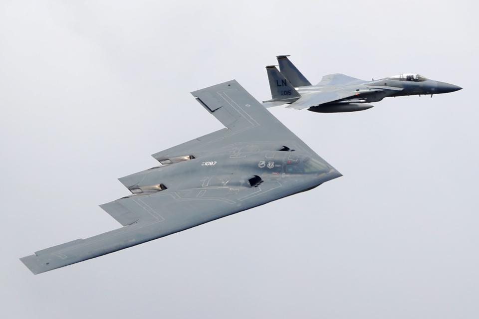 AkiChup0nさんのアメリカ空軍 Northrop Grumman B-2 Spirit (93-1087) 航空フォト