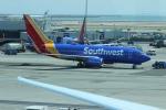 uhfxさんが、サンフランシスコ国際空港で撮影したサウスウェスト航空 737-7H4の航空フォト(写真)