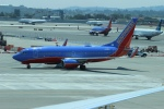uhfxさんが、サンフランシスコ国際空港で撮影したサウスウェスト航空 737-7H4の航空フォト(飛行機 写真・画像)