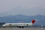 SKYLINEさんが、仙台空港で撮影した日本航空 MD-81 (DC-9-81)の航空フォト(写真)