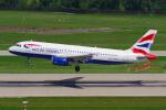 PASSENGERさんが、チューリッヒ空港で撮影したブリティッシュ・エアウェイズ A320-232の航空フォト(写真)