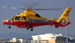 C.Hiranoさんが、舞洲ヘリポートで撮影した滋賀県防災航空隊 AS365N3 Dauphin 2の航空フォト(写真)