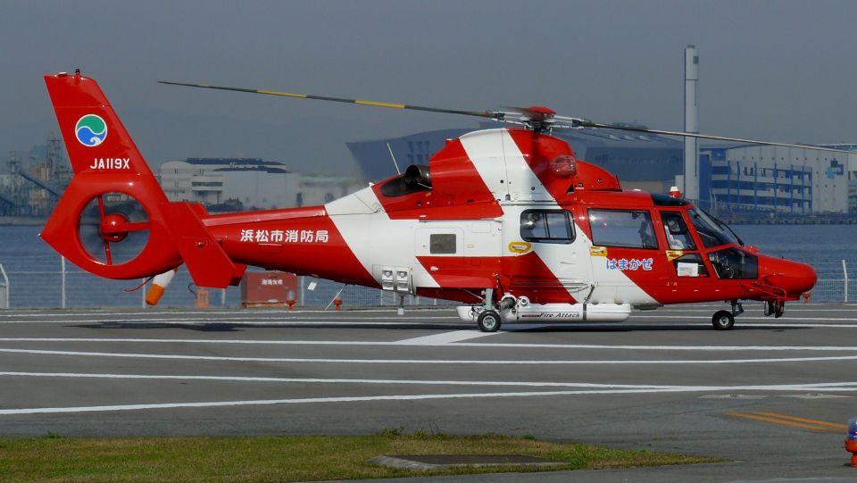 cathay451さんの浜松市消防航空隊 Eurocopter AS365/565 Dauphin 2/Panther (JA119X) 航空フォト