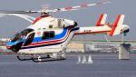 C.Hiranoさんが、舞洲ヘリポートで撮影した朝日新聞社 MD 900/902の航空フォト(写真)