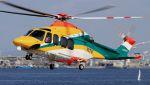 C.Hiranoさんが、舞洲ヘリポートで撮影した朝日航洋 AW139の航空フォト(写真)