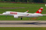 PASSENGERさんが、チューリッヒ空港で撮影したスイスインターナショナルエアラインズ BD-500-1A10 CSeries CS100の航空フォト(写真)