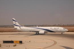 天王寺王子さんが、ベン・グリオン国際空港で撮影したエル・アル航空 737-958/ERの航空フォト(飛行機 写真・画像)