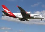 voyagerさんが、ロンドン・ヒースロー空港で撮影したカンタス航空 A380-842の航空フォト(飛行機 写真・画像)