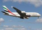 voyagerさんが、ロンドン・ヒースロー空港で撮影したエミレーツ航空 A380-861の航空フォト(写真)