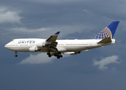 voyagerさんが、フランクフルト国際空港で撮影したユナイテッド航空 747-451の航空フォト(飛行機 写真・画像)