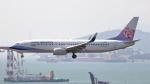 誘喜さんが、香港国際空港で撮影したチャイナエアライン 737-8ALの航空フォト(写真)
