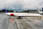 菊池 正人さんが、オスロ国際空港で撮影したスカンジナビア航空 MD-81 (DC-9-81)の航空フォト(写真)