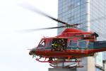 イソロクガトブさんが、クロスランドおやべ で撮影した富山県消防防災航空隊 412EPの航空フォト(写真)