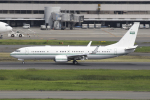 Gulf650Erさんが、羽田空港で撮影したサウジアラビア王室空軍 737-8DP BBJ2の航空フォト(飛行機 写真・画像)
