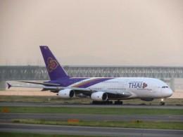 まさ773さんが、関西国際空港で撮影したタイ国際航空 A380-841の航空フォト(写真)