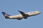 天空の鷲さんが、成田国際空港で撮影したユナイテッド航空 747-422の航空フォト(写真)