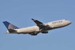 天空の鷲さんが、成田国際空港で撮影したユナイテッド航空 747-422の航空フォト(飛行機 写真・画像)