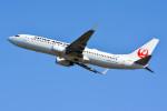 車掌さんが、関西国際空港で撮影した日本航空 737-846の航空フォト(写真)