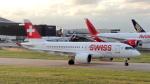 誘喜さんが、ロンドン・ヒースロー空港で撮影したスイスインターナショナルエアラインズ BD-500-1A10 CSeries CS100の航空フォト(写真)
