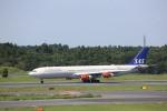 meijeanさんが、成田国際空港で撮影したスカンジナビア航空 A340-313Xの航空フォト(写真)