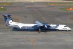 セブンさんが、新千歳空港で撮影したオーロラ DHC-8-402Q Dash 8の航空フォト(飛行機 写真・画像)