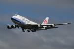 地主さんが、成田国際空港で撮影したチャイナエアライン 747-409の航空フォト(写真)