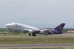 ATOMさんが、新千歳空港で撮影したタイ国際航空 747-4D7の航空フォト(写真)