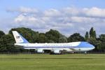 Longさんが、ハンブルク空港で撮影したアメリカ空軍 VC-25A (747-2G4B)の航空フォト(写真)