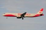 ぼんやりしまちゃんさんが、ドモジェドヴォ空港で撮影したレッドウィングス A321-231の航空フォト(写真)