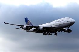 KAW-YGさんが、ロンドン・ヒースロー空港で撮影したユナイテッド航空 747-422の航空フォト(飛行機 写真・画像)