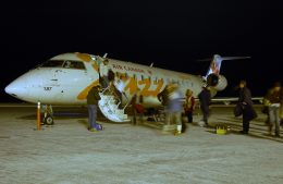 BOSTONさんが、イエローナイフ空港で撮影したエア・カナダ ジャズ CL-600-2B19 Regional Jet CRJ-200ERの航空フォト(飛行機 写真・画像)