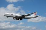 Gambardierさんが、ロンドン・ヒースロー空港で撮影した日本航空 747-446の航空フォト(写真)