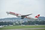 nobu2000さんが、チューリッヒ空港で撮影したスイスインターナショナルエアラインズ 777-3DE/ERの航空フォト(写真)