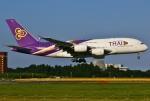 あしゅーさんが、成田国際空港で撮影したタイ国際航空 A380-841の航空フォト(飛行機 写真・画像)