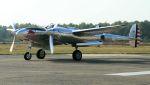C.Hiranoさんが、クライネ・ブローゲル空軍基地で撮影したザ・フライングブルズ P-38L Lightningの航空フォト(写真)