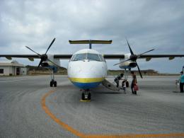 ss5さんが、南大東空港で撮影した琉球エアーコミューター DHC-8-103 Dash 8の航空フォト(飛行機 写真・画像)