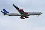 mojioさんが、成田国際空港で撮影したスカンジナビア航空 A340-313Xの航空フォト(飛行機 写真・画像)