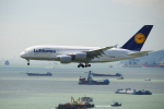 よしぱるさんが、香港国際空港で撮影したルフトハンザドイツ航空 A380-841の航空フォト(写真)