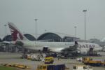小牛田薫さんが、香港国際空港で撮影したカタール航空 A330-202の航空フォト(写真)