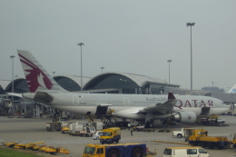 小牛田薫さんが、香港国際空港で撮影したカタール航空 A330-202の航空フォト(飛行機 写真・画像)
