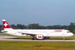 菊池 正人さんが、ジュネーヴ・コアントラン国際空港で撮影したスイスインターナショナルエアラインズ A321-111の航空フォト(写真)
