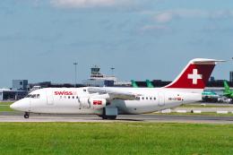 菊池 正人さんが、ダブリン空港で撮影したスイスインターナショナルエアラインズ Avro 146-RJ85の航空フォト(飛行機 写真・画像)