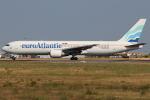 つみネコ♯2さんが、リスボン・ウンベルト・デルガード空港で撮影したユーロアトランティック・エアウェイズ 767-36N/ERの航空フォト(写真)