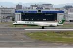 ansett767ksさんが、福岡空港で撮影したエバー航空 MD-90-30の航空フォト(写真)
