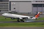 スポット110さんが、羽田空港で撮影したフィリピン航空 A340-313Xの航空フォト(写真)